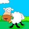 Coloring funny sheep