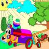 Kid's coloring: Happy train